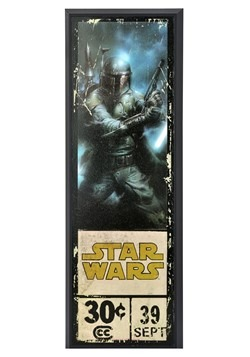 "Star Wars Boba Fett 8"" x 27"" Framed Print Wall Art"