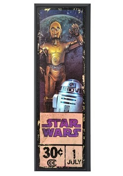 "Star Wars C-3PO & R2-D2 8"" x 27"" Framed Print Wall Art"