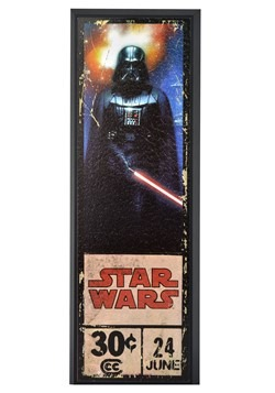 "Star Wars Darth Vader 8"" x 27"" Framed Print Wall Art"