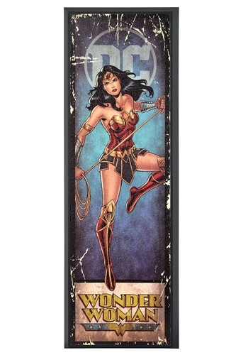 "DC Comic Wonder Woman 8"" x 27"" Framed Print Wall Art"
