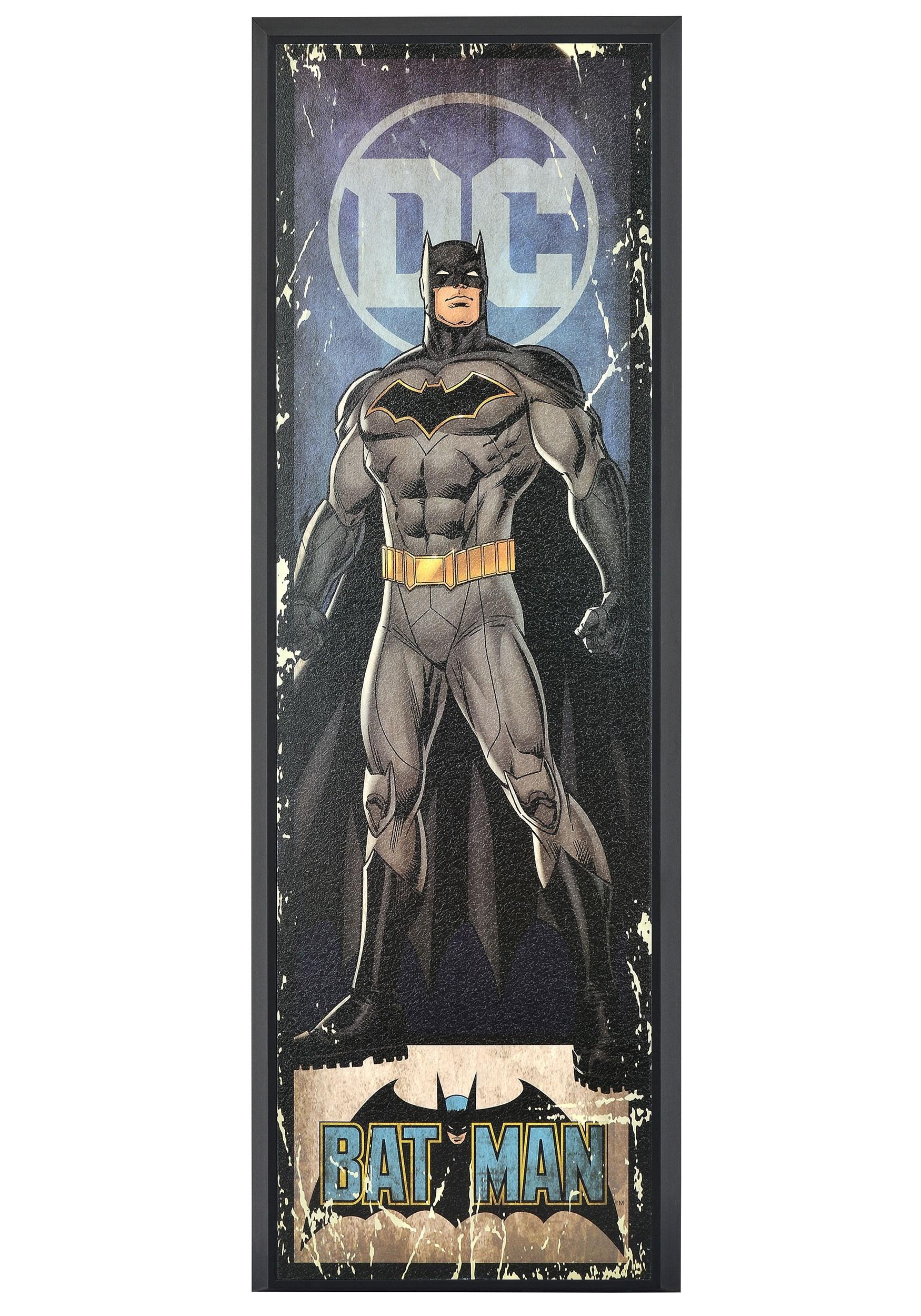 Zombie Batman Framed Art Original Drawing Batman in a Suit Gothic Home Decor Cubicle Decor Occult Fandom DC Comics Wall Art
