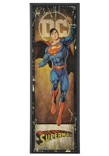 "DC Comic Superman 8"" x 27"" Framed Print Wall Art"