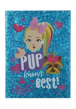 Jojo Siwa- Pup Knows Best- Double-Layer Glitter Canvas Wall