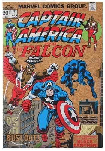 "Marvel Captain America 12""x17.5"" Corkboard Wall Art w/thumbt"
