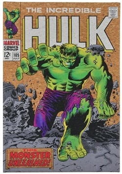"Marvel Incredible Hulk 12""x17.5"" Corkboard Wall Art w/thumbt"