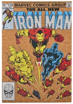 "Marvel Iron Man 12""x17.5"" Corkboard Wall Art w/thumbtacks"