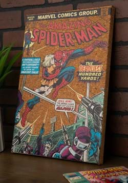"Marvel Spider-Man 12""x17.5"" Corkboard Wall Art w/thumbtacks-"
