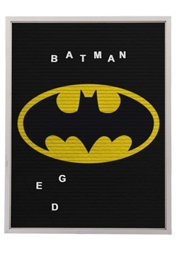 "DC Comics Batman 13""x17.5"" Felt Letterboard Wall Art w/ 145"