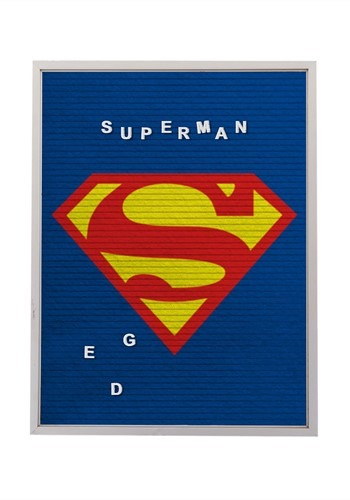 "DC Comics Superman 13""x17.5"" Felt Letterboard Wall Art w/ 14"