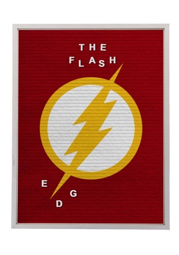 "DC Comics The Flash 13""x17.5"" Felt Letterboard Wall Art w/ 1"
