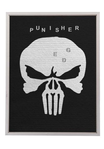"Marvel The Punisher 13""x17.5"" Felt Letterboard Wall Art w/ 1"