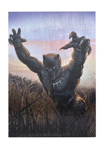 "Marvel Black Panther 19""x13"" Metallic Box Art Wall"
