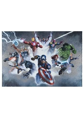 "Marvel Avengers 19""x13"" Metallic Box Art Wall Deco"