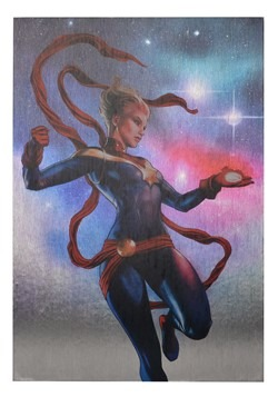 "Marvel Captain Marvel 19""x13"" Metallic Box Art Wall Decor"
