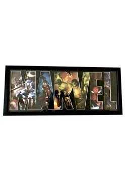 "Marvel Diecut Greyboard Glass Shadowbox Wall Art 10.5""x24""x2"