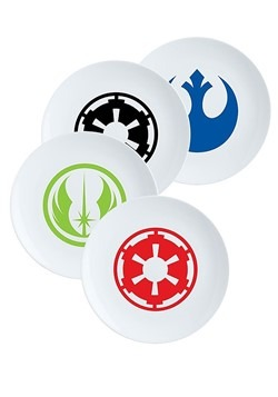 Star Wars 4pc Ceramic Plate Set