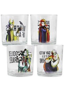 Disney Villains 4pc 10oz Glass Set
