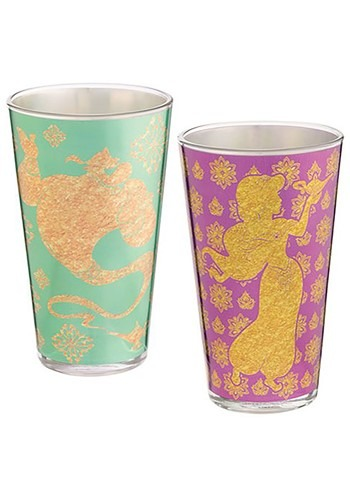 Aladdin Jasmine & Genie 16oz 2pc Glass Set