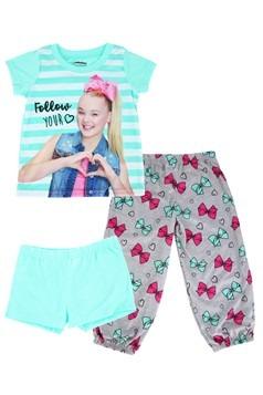 Girls Jojo Siwa Shirt/Pants/Shorts Sleep Set