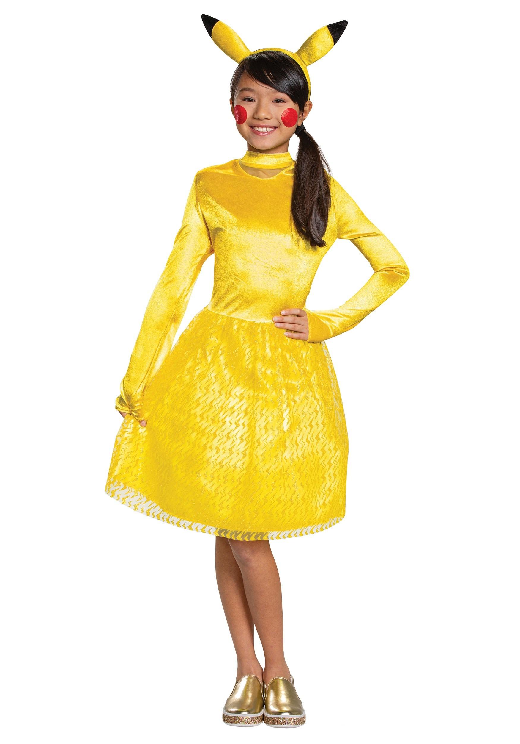 Girls Pokemon Pikachu Classic Costume Dress