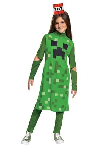 Minecraft Creeper Classic Girls Costume