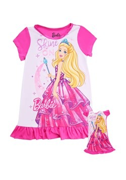"Girls Shine On Barbie Dorm Nightgown with 18"" Doll"