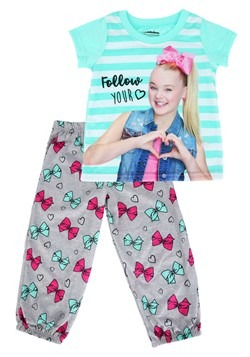 Girls Jojo Siwa Shirt/Pant Sleep Set