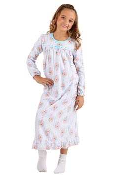Girls Frozen Elsa Granny Gown Sleepwear