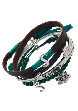 Harry Potter Slytherin Arm Party Jewelry Bracelet Set