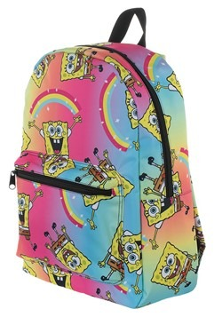 Spongebob Rainbow Print Backpack