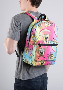 Spongebob Rainbow Print Backpack Alt 1