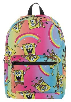 Spongebob Rainbow Print Backpack Alt 2