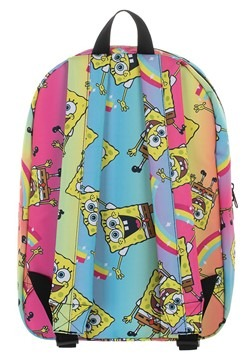 Spongebob Rainbow Print Backpack Alt 4