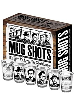 Mug Shots of Gangsters Shot Glasses