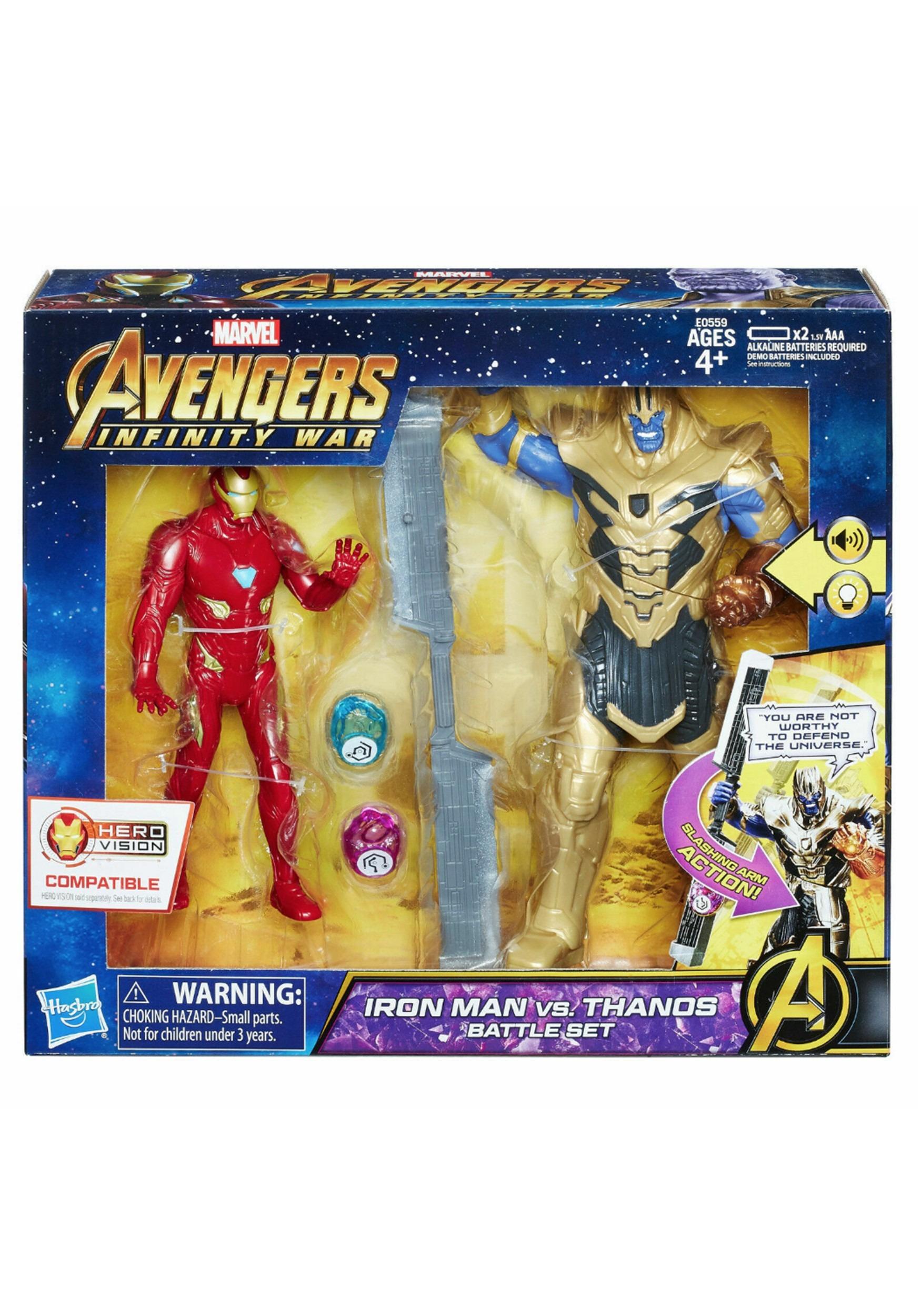 Marvel Avengers: Infinity War Iron Man vs  Thanos Battle Set