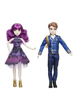 Disney Descendants Royal Cotillion Couple Ben and Mal Dolls