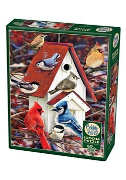Winter Birdhouse 1000 Piece Cobble Hill Puzzle