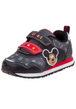 Mickey Mouse Black and Red Child Sneakers