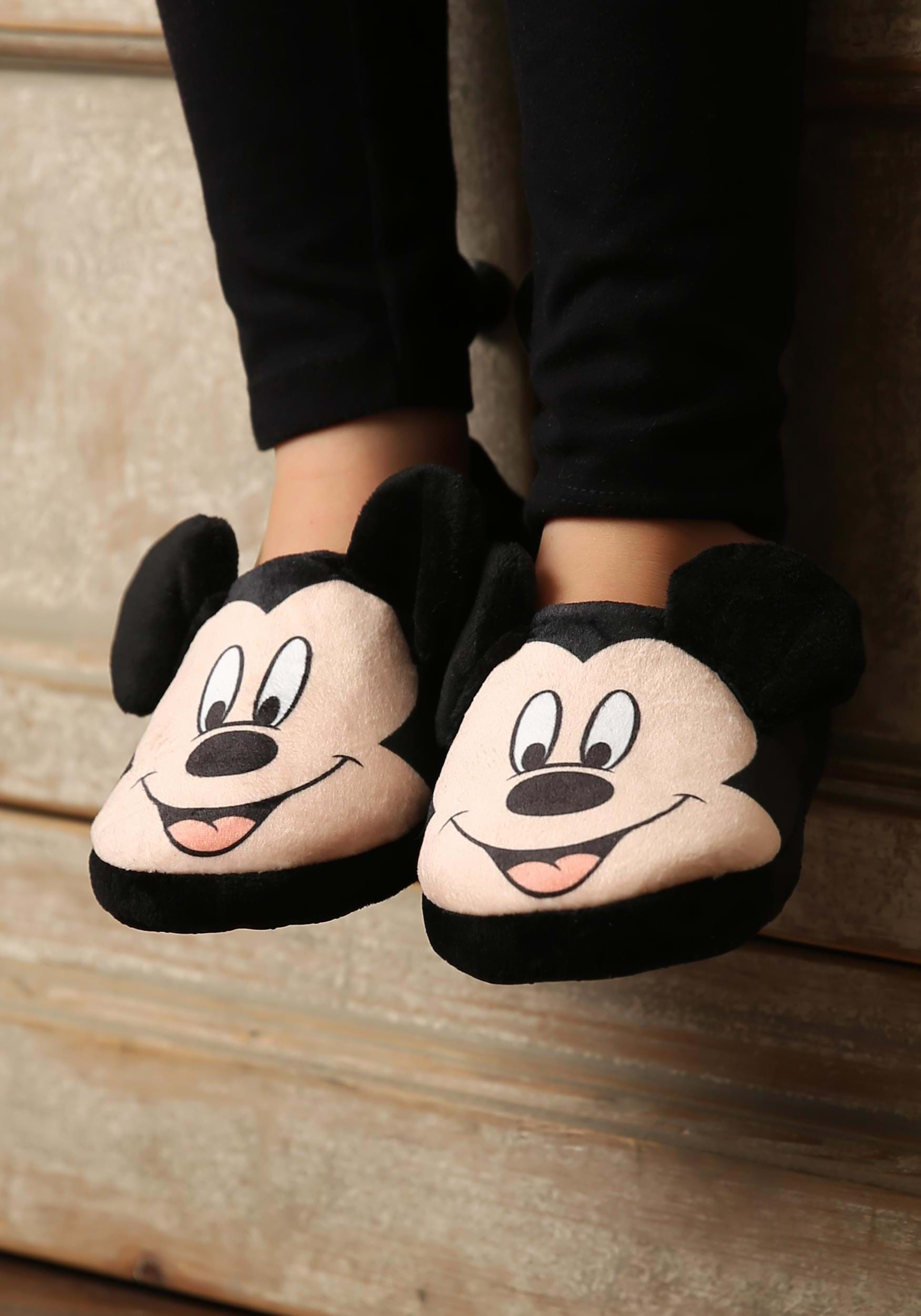 Disney Mickey Mouse Face Slippers