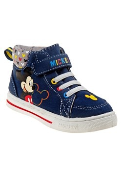 Mickey Mouse Blue High Top Sneakers for Toddler Boys