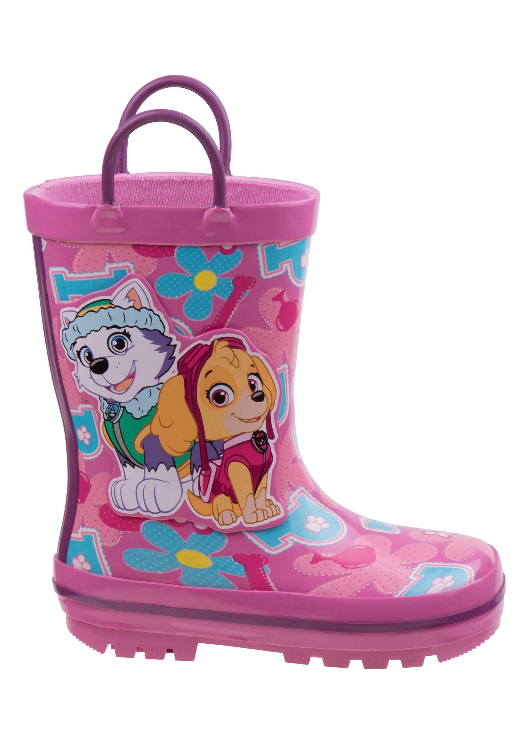 Paw Patrol Skye & Everest Girl's Rain Boots