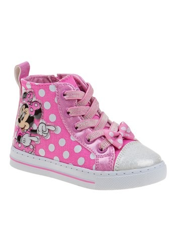 Minnie Mouse Pink Polka Dot Girls Sneakers