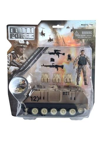 M113 Desert Armored Vehicle Posable Action Figure Set