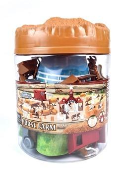 Bucket of Horses Toy Set