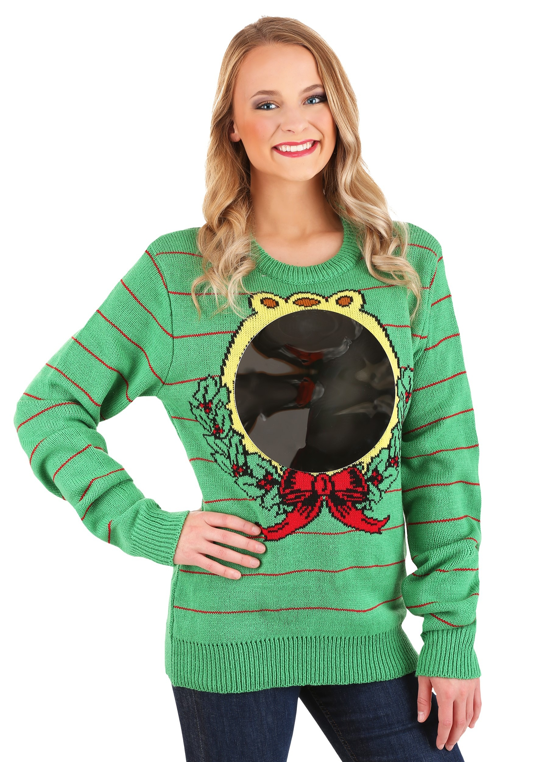 Mirror Ugly Christmas Sweater For Adults Photo by thomas trutschel/photothek via getty images. adult ugly mirror christmas sweater