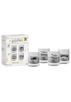 Harry Potter Spells 4 Piece Glass Set