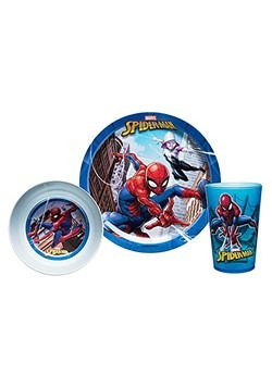 Spider-Man Bowl, Cup, and Plate Set 1