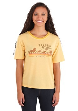 Juniors Lion King Hakuna Matata Yellow Contrast Ne