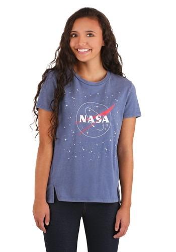 Juniors NASA Washed Tab Front Tee