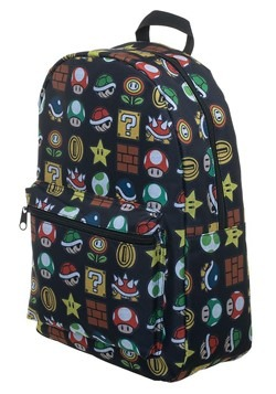 Nintendo Super Mario All Over Print Sublimated Bac